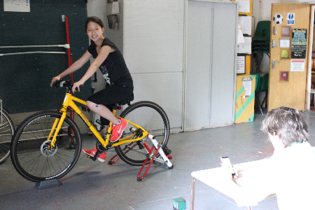 Janelle takes on a bike fitting session at Hackney Bike Workshop